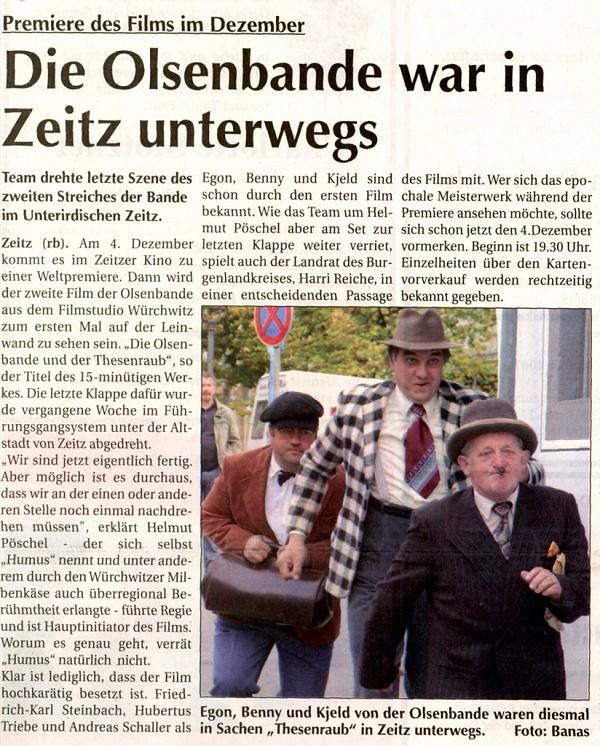 Super Sonntag Zeitz : besondere fans filmstudio w rchwitz die olsenbande und der k se coup olsenbandenfanclub ~ Watch28wear.com Haus und Dekorationen